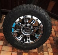 4 Procomp 31 series chrome wheels and 4 275/65/R18 DuraTrac Goodyear Wrangler tires Albuquerque, 87102