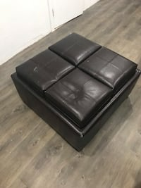 black leather tufted sofa chair North Bergen, 07047