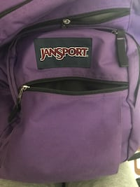 Purple and black jansport backpack Montréal, H3G 1B7