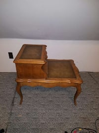 brown wooden vintage two tier end table Macungie, 18062