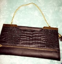 Black snake skinned gold chained purse  San Antonio, 78257