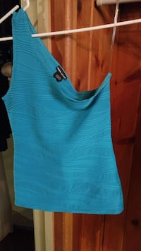 Wet Seal turquoise one shoulder tank top