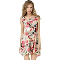 women's white and red floral sleeveless dress Phoenix, 85008