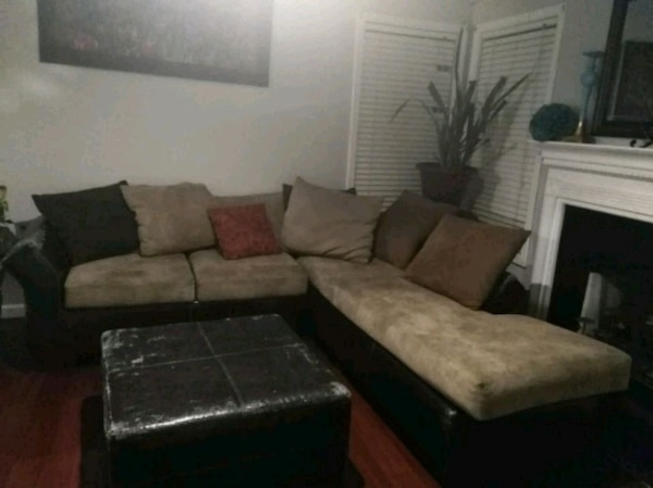 5c76aa0f1d8b Used L shaped sofa and ottoman for sale in Riverdale - letgo