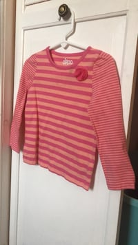 pink and white striped long-sleeved shirt Saginaw, 48603