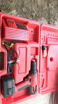 Red and black milwaukee cordless power drill Caldwell, 83605
