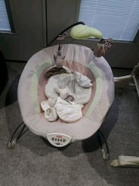 baby's white and gray Fisher Price bouncer Surrey, V3T