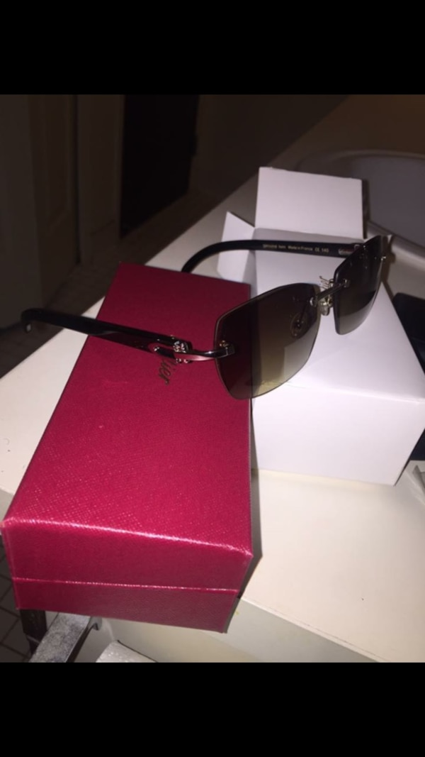 2b8d2d0991cf Used Cartier black marble buffalo horn glasses brand new for sale in ...