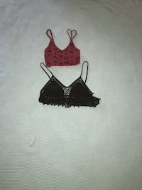 two black and red spaghetti strap crop top Puyallup, 98375