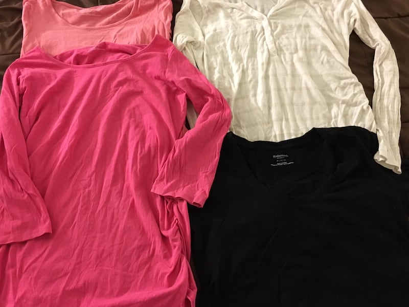 Four Maternity tops - 3 long sleeved and one short sleeve 2c4f5349-85f2-4b39-816c-c0cc9c240a53