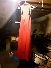Frederick's long red gown  Columbus, 43232
