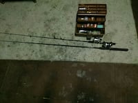 Zebco 33 and Daiwa 208RL with tackle box  North Augusta, 29841
