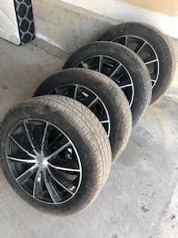 Partially Used Summer Tire with Rim  [PHONE NUMBER HIDDEN] W LX comes with 5bots  Toronto, M3J 0G2
