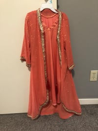 6 to 7 years old girl's red and brown traditional dress Calgary, T3J 2W5