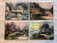 Thomas Kinkade numbered seasons of reflection  Set of 4