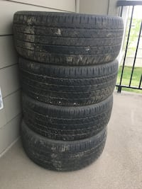 Four black rubber car tires Edmonton, T6T