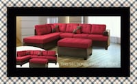 Red sectional with ottoman Greenbelt