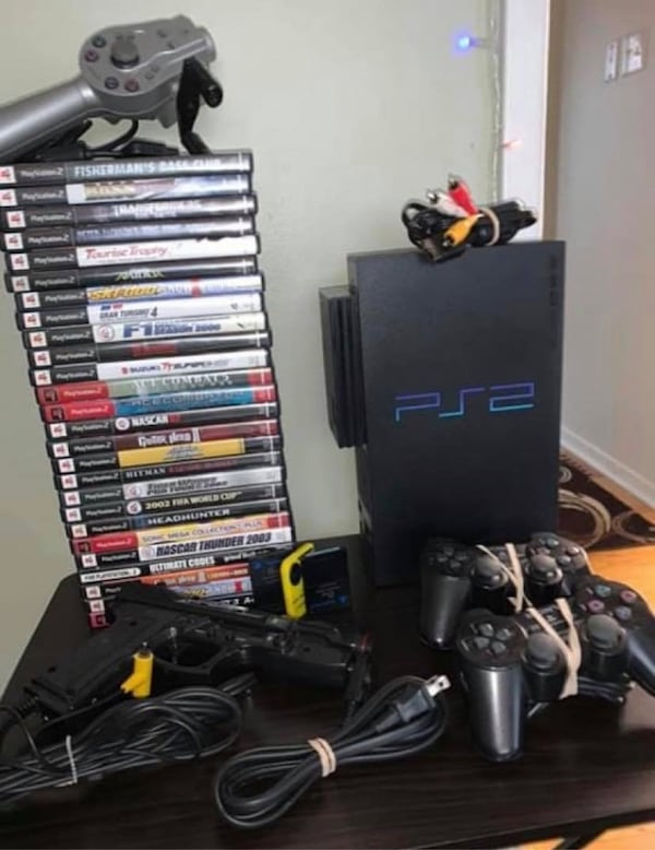 Sony Playstation 2 modded PS2 Fat  Hard drive ready to load games on. a2e6cc18-5260-4fc4-9694-4ce1bbb3cce1
