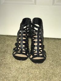 pair of black open-toe gladiator sandals West Lafayette, 47906