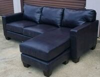 Chocolate brown sectional with reversible chaise  Saint Charles, 20602