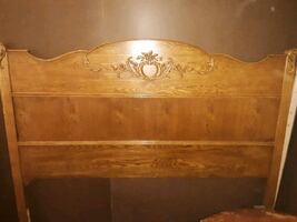 Antique wood bed