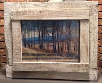 """Rustic framed picture (21"""" x 17 1/2"""") Langley, V3A 1R2"""