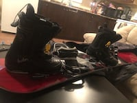 Snowboard, snowboard boots, bindings and bag Coquitlam, V3B 4S8