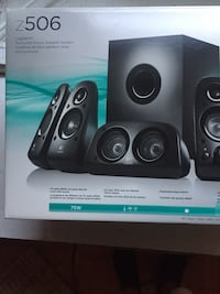 black Logitech multimedia speaker system box New York, 11377