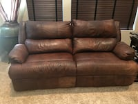 Brown leather Two. 3-seat sofas + Chair and 1/2 San Marcos, 92069