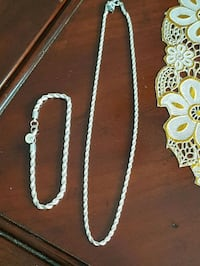 NEW 925 Sterling Silver Bracelet and Necklace. $15 each  London, N6C 4W2