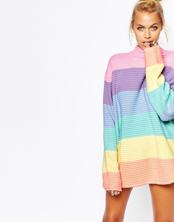 Used Unif frost pastel striped sweater for sale in Toronto - letgo 34ff7ddae