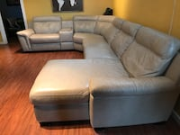 7pc Leather Sectional - Cindy Crawford Collection Edmonton, T5T 6G6