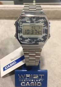 reloj digital de plata Casio