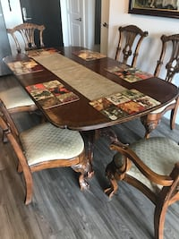 Solid oak table set with china cabinet Falls Church, 22046