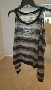 women's gray and black stripe tank top Fort Myers, 33907