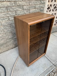 Used Wooden Book Shelf / Bookcase with glass doors