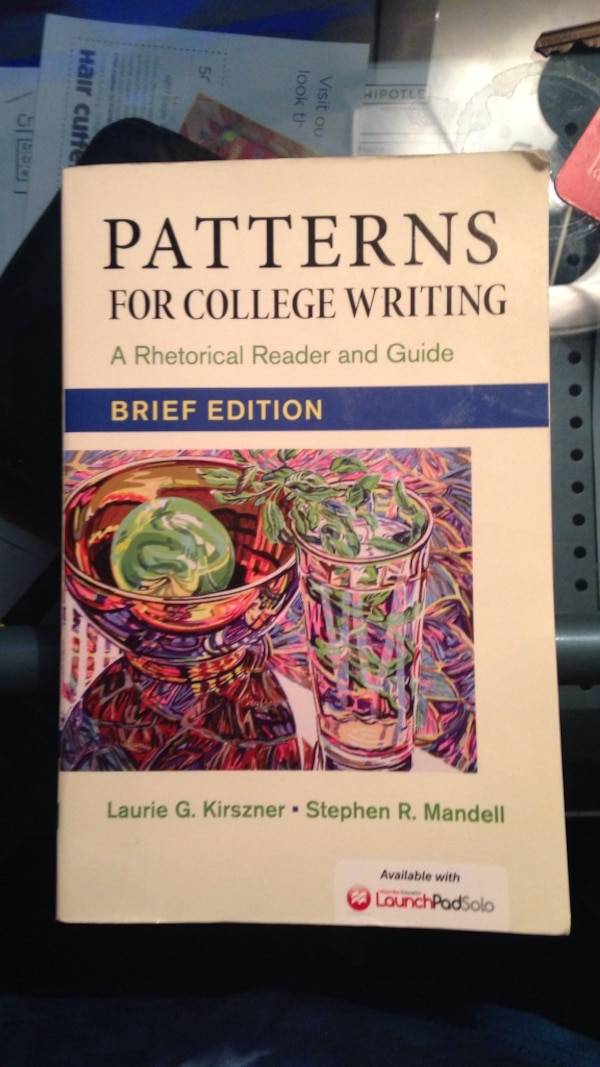 Used patterns for college writing brief edition book for sale in Classy Patterns For College Writing