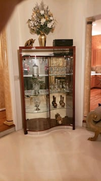 brown wooden framed glass display cabinet Bladensburg, 20710