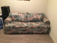 green and white floral 3-seat sofa Red Deer, T4E 0S3