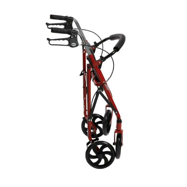 Drive Medical Four Wheel Rollator with Fold Up Back Support