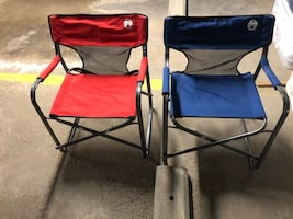 Pair of folding camp chairs- Coleman