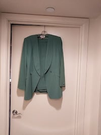 women's green suit