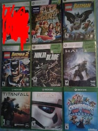 6 xbox 360 games 3 xbox one games London, N6G 3B4