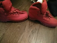 All red timberlands worn 5x only  Wichita, 67204