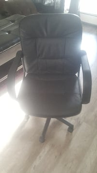 Leather rolling office chair