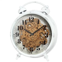 NEW - Classic Gears Table Clock by 17 Stories $80FIRM Highland, 46322