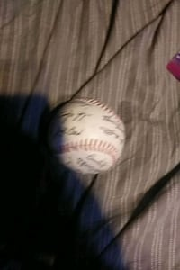 Colorado Rockies signed baseball Hampton