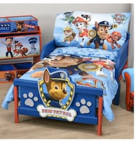 Paw patrol toddler bedding