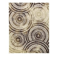 Ivory/Brown Area Rug  ROCKVILLE