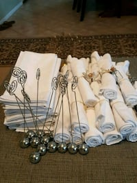 Cloth napkins and card holders